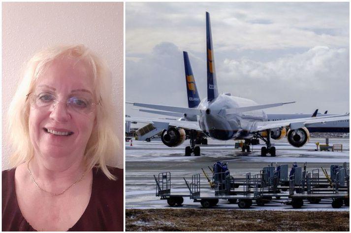 Gréta er afar ánægð með að fá flug heim til Íslands. Á laugardaginn voru 70 manns búnir að bóka sig í flug Icelandair frá Alicante.