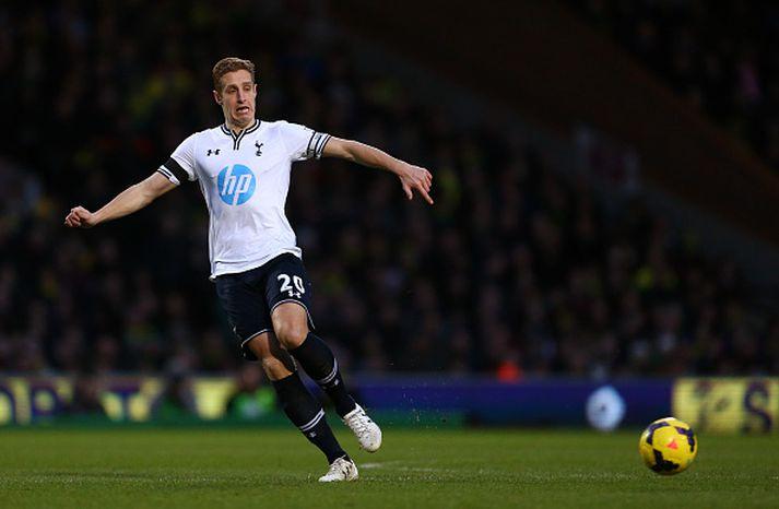 Dawson í leik með Tottenham á tíma sínum hjá félaginu.