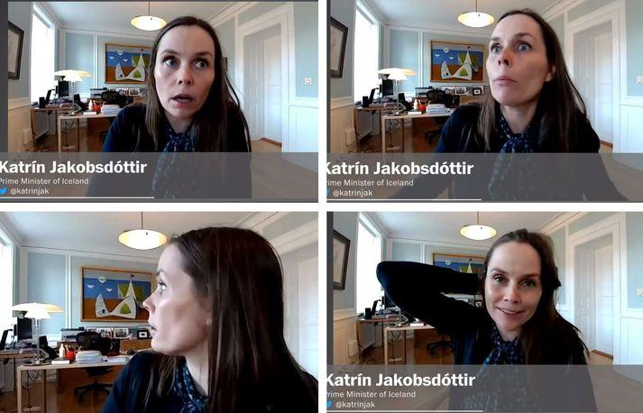 """""""Well, this is Iceland!"""" sagði Katrín Jakobsdóttur við blaðamann Washington Post eftir að skjálftinn hafði riðið yfir."""