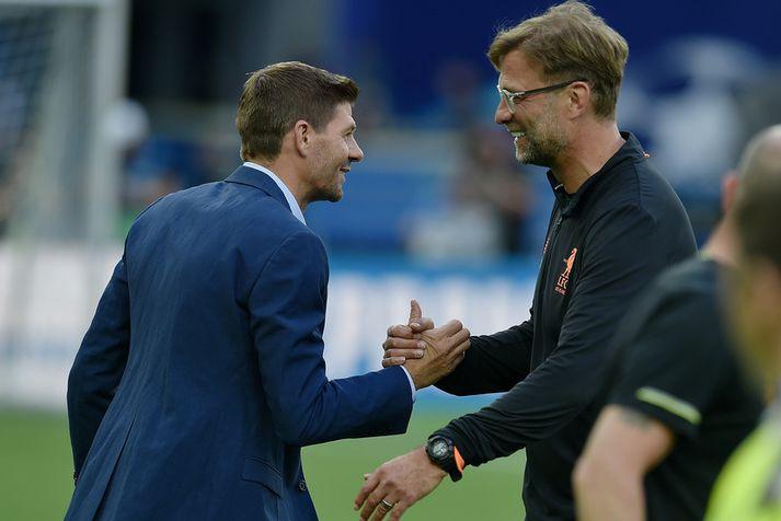 Jürgen Klopp og Steven Gerrard.