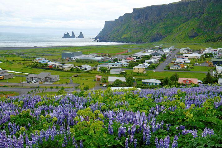 Frá Vík í Mýrdal. Hlýjast verður á Suðausturlandi í dag.