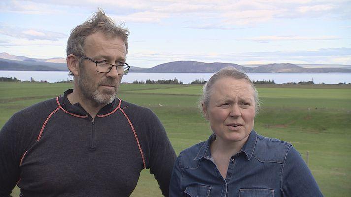 Bændurnir á Heiðarbæ eitt, Jóhannes Sveinbjörnsson og Ólöf Björg Einarsdóttir.