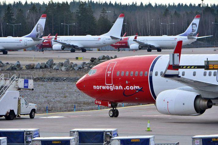 Boeing 737 Max-þotur Norwegian hafa varla verið hreyfðar frá því í mars árið 2019.