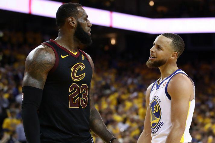 Stephen Curry og LeBron James.