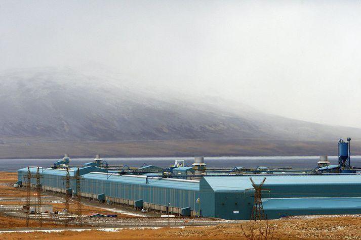 Álver Norðuráls á Grundartanga.