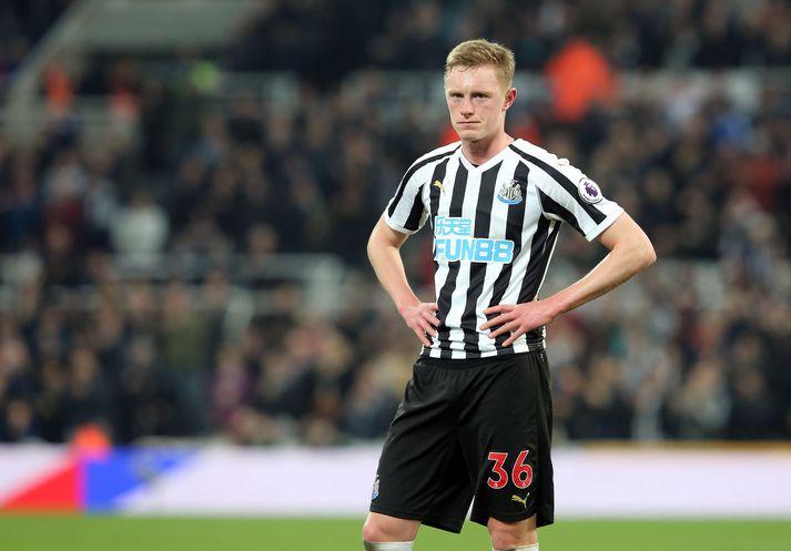 Longstaff í leik með Newcastle.