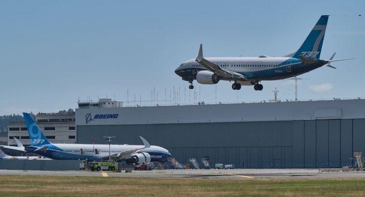 Frá tilraunaflugi Boeing 737-Max vélar í Seattle fyrr í sumar.