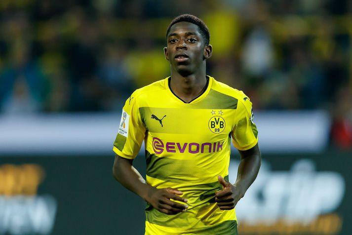Dembele í leik með Dortmund á dögunum.