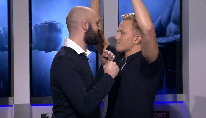 Pétur og Bjarki gefa ekkert eftir.