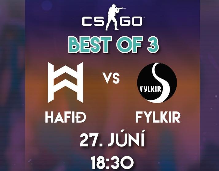 Hafið gegn Fylki í Háskólabíói.