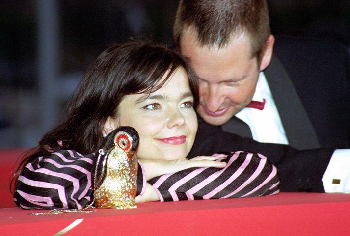 Björk og Lars von Trier á kvikmyndahátíðinni í Cannes.
