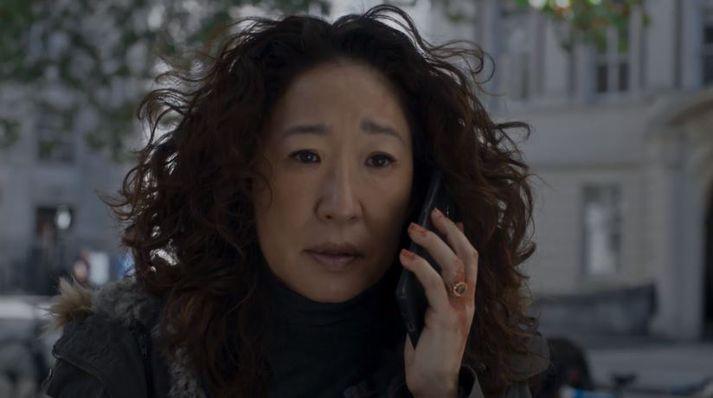Sandra Oh fékk Emmy-verðlaun á dögunum.