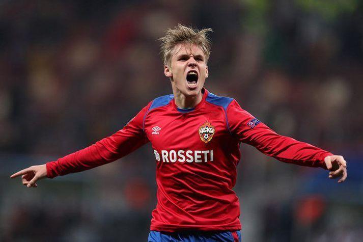 Arnór lagði upp annað mark CSKA í kvöld.