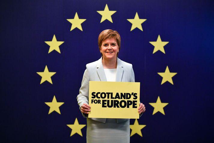 Nicola Sturgeon, forsætisráðherra Skotlands.