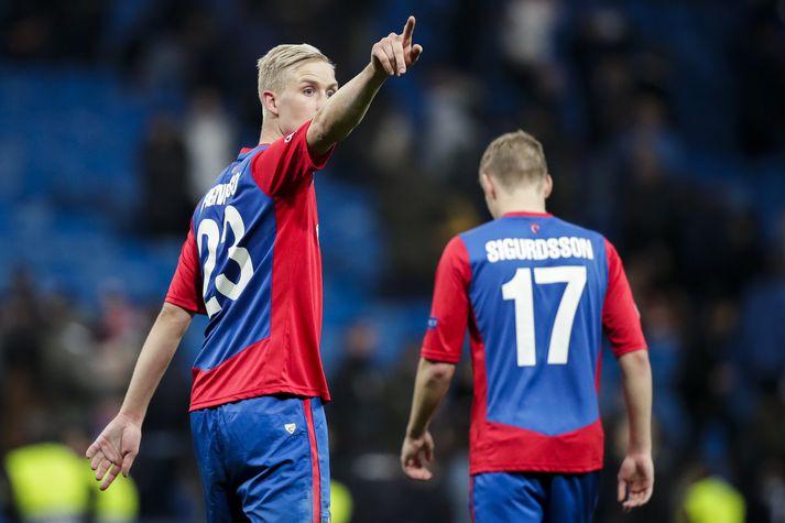 Hörður Magnússon og Arnór Sigurðsson.