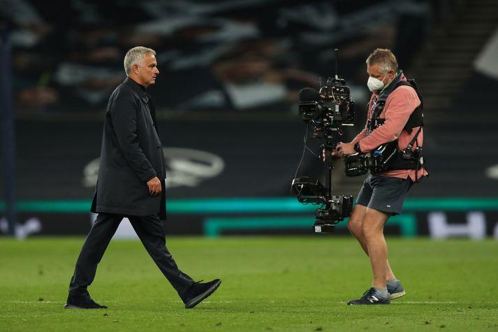 Mourinho er vanur að hafa myndavél á sér allan daginn.
