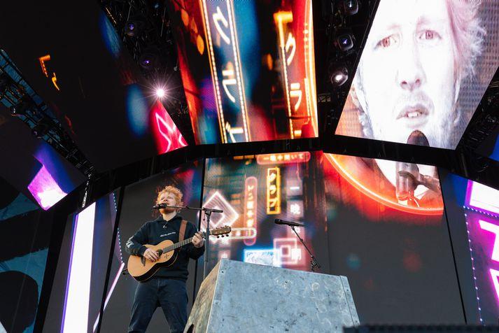 Tónleikar Ed Sheeran á Laugardalsvelli voru frábærir.
