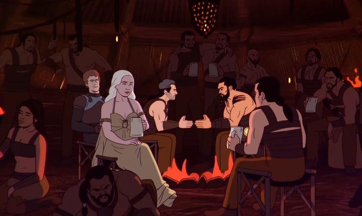 """Ef það er eitthvað sem David Benioff, annar forsvarsmanna Game of Thrones, hefur lært af framleiðslu þáttanna, þá er það að skora ekki á Jason Momoa í """"slap""""-leiknum svokallaða."""