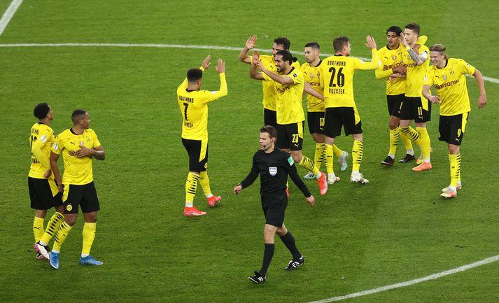 Dortmund átti ekki í miklum vandræðum með RB Leipzig í dag.