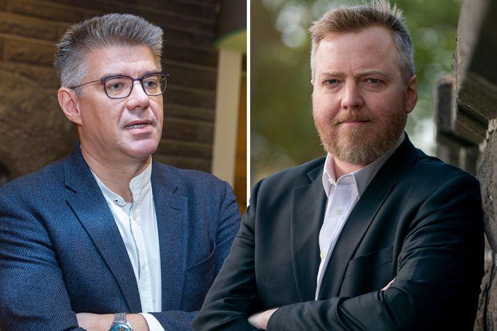 Gunnar Bragi Sveinsson og Sigmundur Davíð Gunnlaugsson.