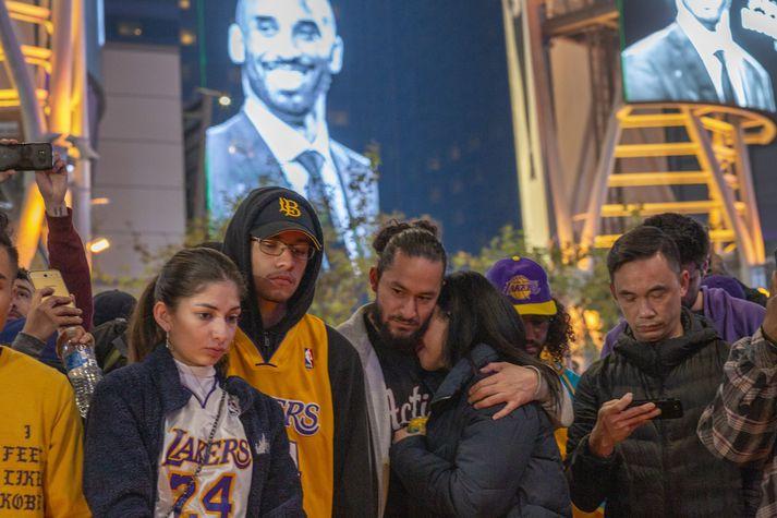 Stuðningsmenn Los Angeles Lakers eru í sárum.