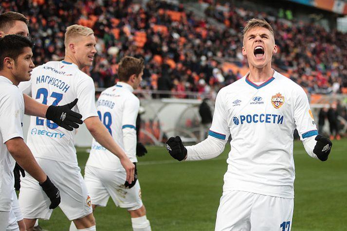 Arnór í leik með CSKA fyrr á leiktíðinni.