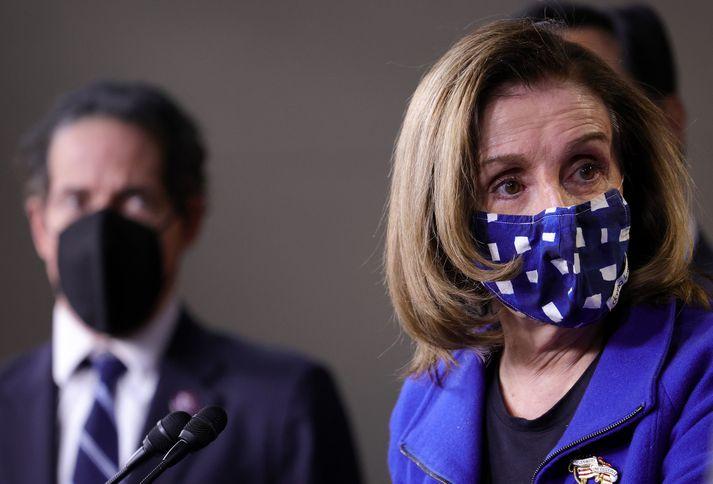 Nancy Pelosi, forseti fulltrúadeildar þingsins.