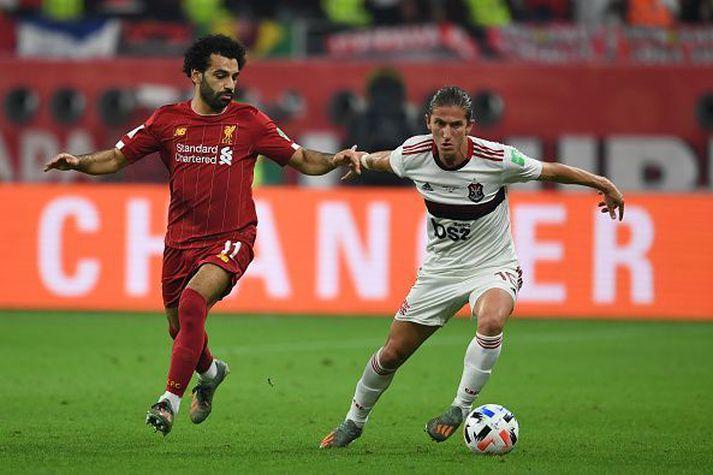 Luis og Salah á HM félagsliða í Katar 2019. Salah með Liverpool og Luis með Flamengo.