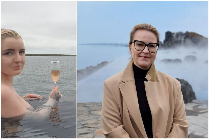 Diljá Sigurðardóttir og Dagný Hrönn Pétursdóttir, framkvæmdastjóri Sky Lagoon.