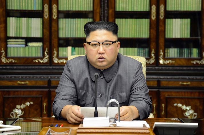 Donald Trump Bandaríkjaforseti og Kim Jong-un, leiðtogi Norður-Kóreu, hafa átt í hatrömmum deilum undanfarið. Þeir hóta hvor öðrum gereyðileggingu og kalla hvor annan geðsjúkan.