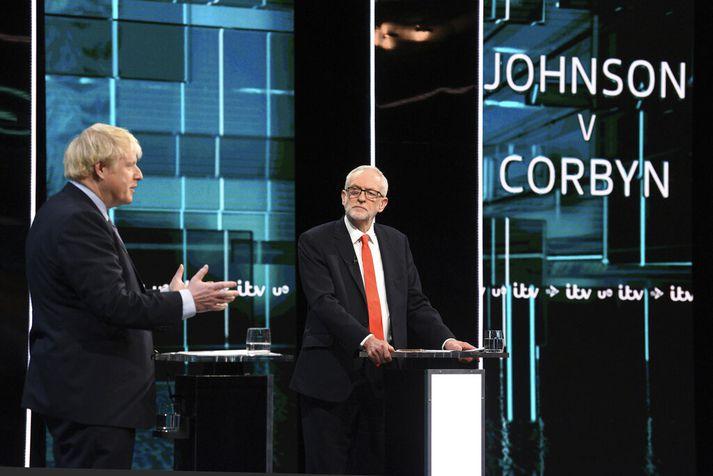 Boris Johnson og Jeremy Corbyn tókust á í kvöld.