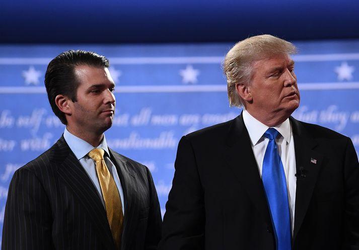 Feðgarnir Donald Trump og Donald Trump.