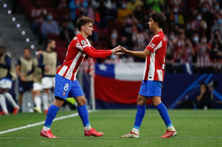 Stuðningsmenn Atlético Madrid tóku ekki beint vel á móti Antoine Griezmann er hann kom inn á gegn Porto.