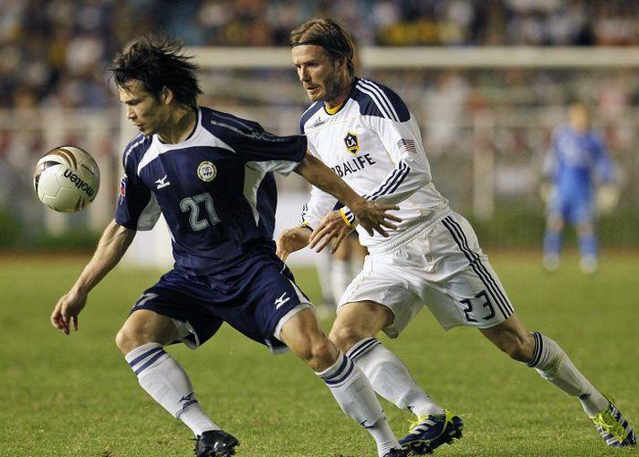 Ray Anthony í baráttu við sjálfan David Beckham í leik filipseyska landsliðsins og LA Galaxy fyrir nokkrum árum.