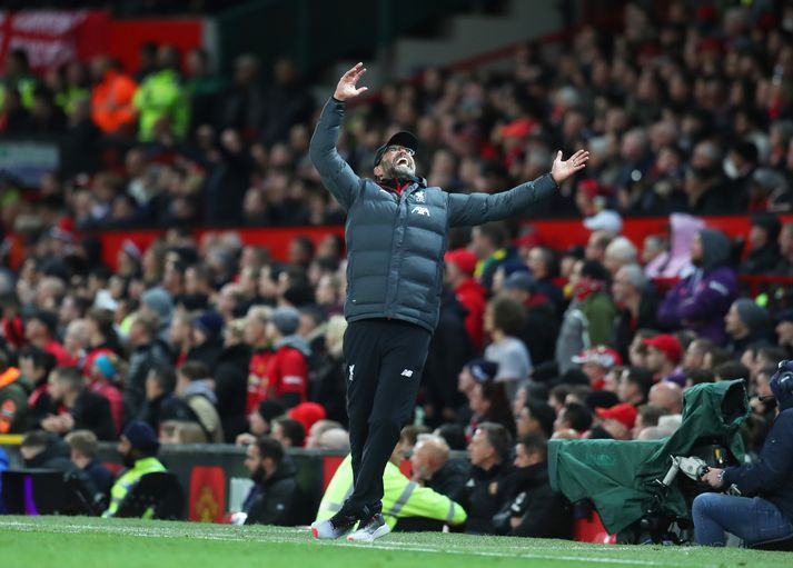 Klopp í leiknum gegn Manchester United