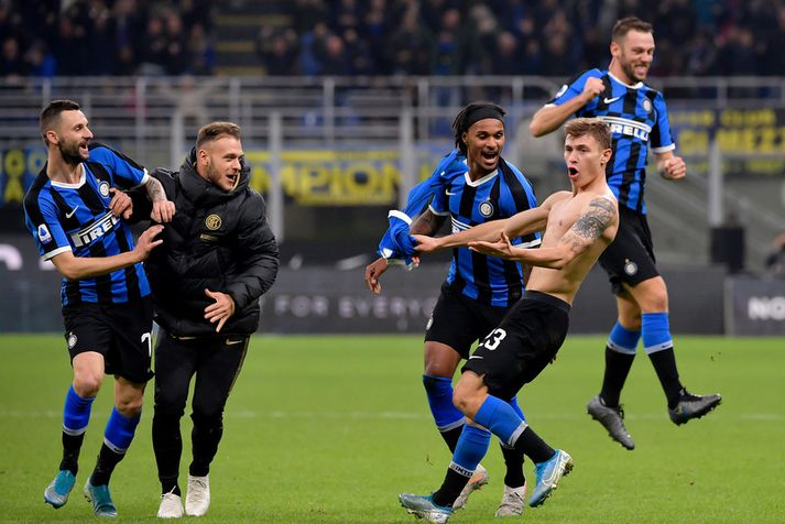 Það er gaman hjá Inter mönnum þessa dagana.