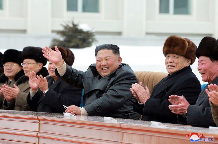 Kim Jong Un, einræðisherra Norður-Kóreu.