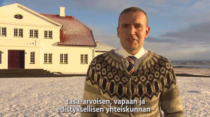 Guðna forseta er greinilega margt til lista lagt, þar á meðal að bera fram finnsku.