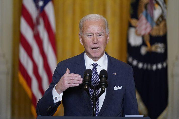 Joe Biden, forseti Bandaríkjanna, sagði lýðræðið eiga undir högg að sækja í heiminum.