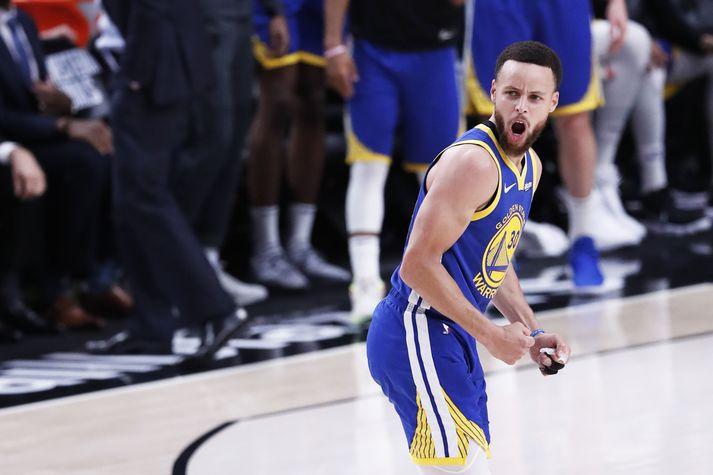 Steph Curry er nú stigahæsti leikmaður í sögu Golden State Warriors.