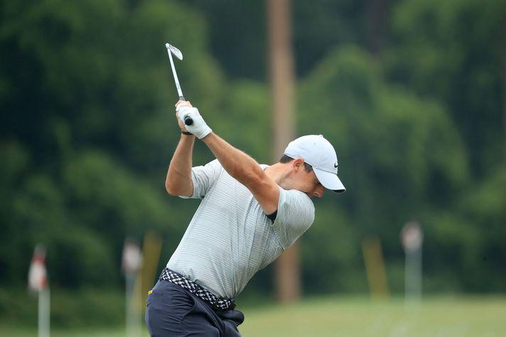 Rory McIlroy hefur unnið PGA-mótið tvisvar, 2012 og 2014.