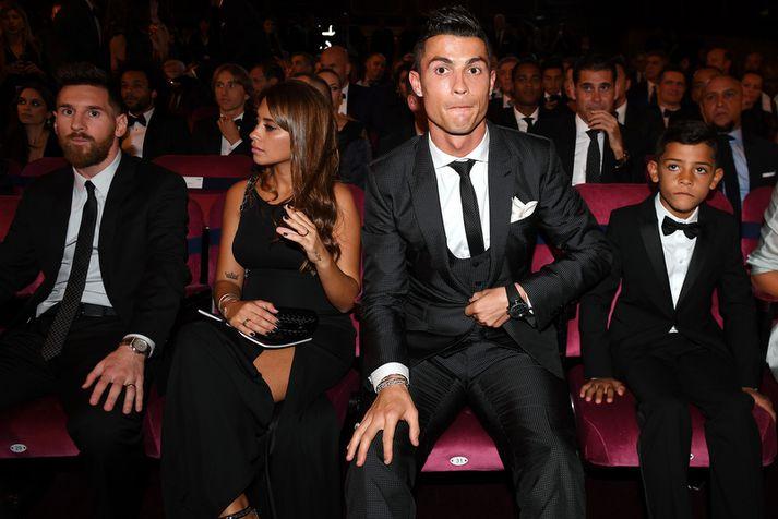 Cristiano Ronaldo og Lionel Messi.