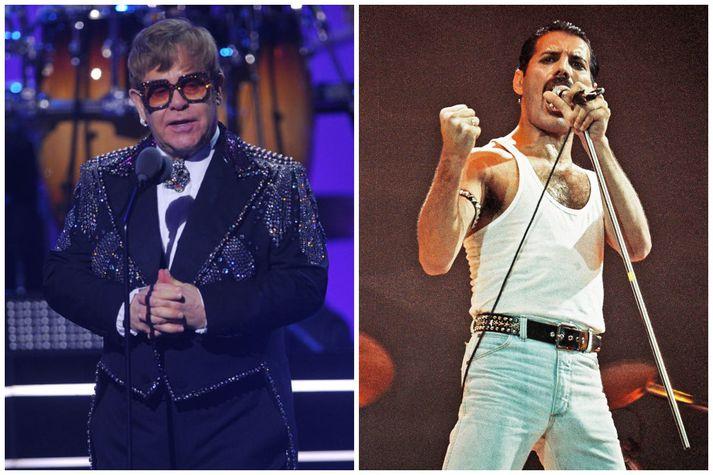 Elton John og Freddie Mercury var vel til vina.