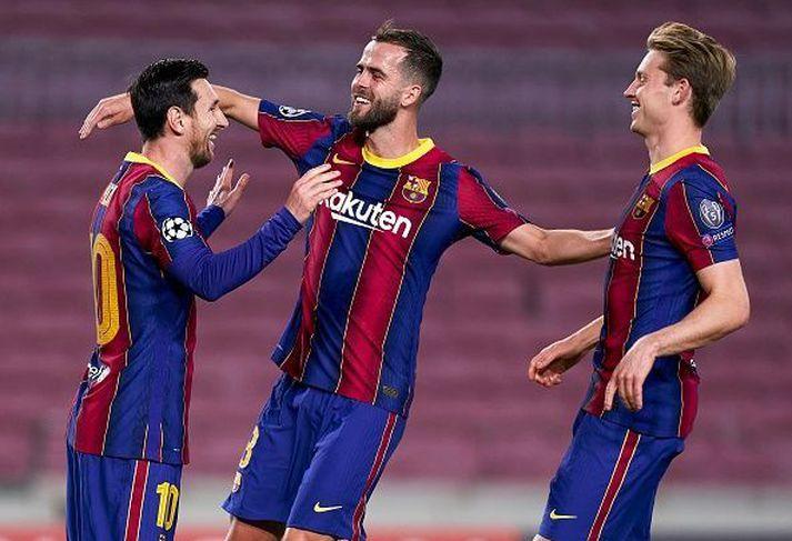 Messi, Pjanic og De Jong fá ekki útborgun 1. janúar.