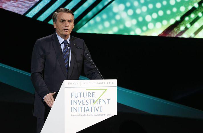 Jair Bolsonaro Brasilíuforseti.