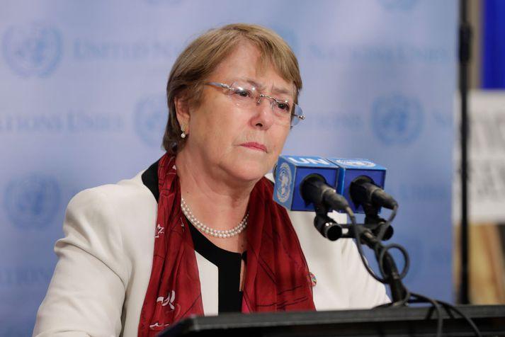 Michelle Bachelet, mannréttindastjóri Sameinuðu þjóðanna.
