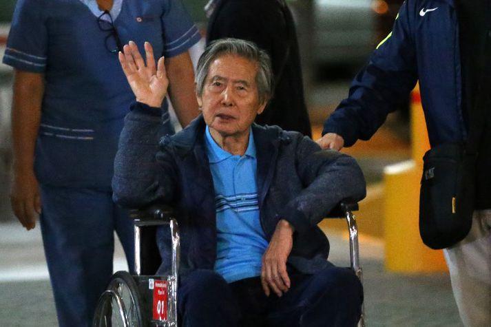 Fujimori er 79 ára gamall og heilsuveill.