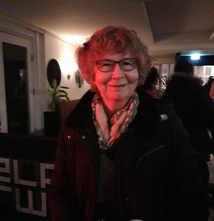 Þetta er fyrsta skiptið sem Hilkka kemur til Íslands en hún og maðurinn hennar ákváðu að skella sér á Airwaves.