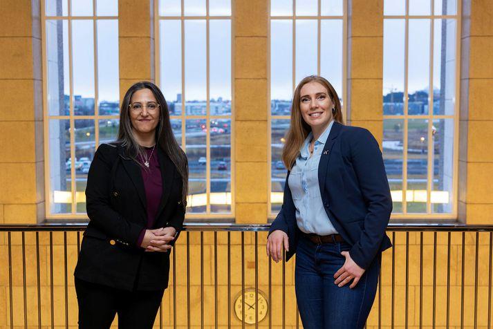 Fida Abu Libdeh,forstjóri og annar stofnenda GeoSilica, og Sandra Mjöll Jónsdóttir Buch, vöru-og markaðsstjóri Florealis.