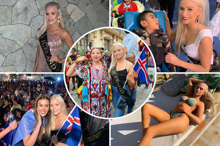 Guðrún Sigurbjörnsdóttir varð að flýja land um helgina þegar hún tók þátt í Miss Global.